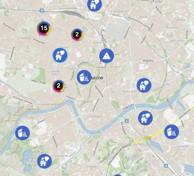 ekoMałopolska mobile - zrzut informacja o zgłoszeniu