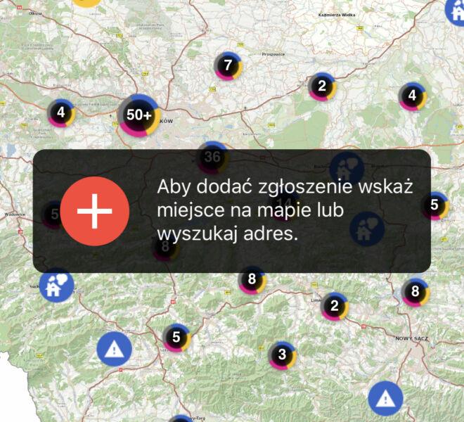 ekoMałopolska mobile - zrzut start